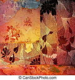 Grunge canvas texture with vignette
