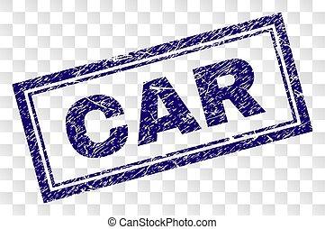 Grunge CAR Rectangle Stamp