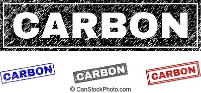 Grunge CARBON Scratched Rectangle Stamps