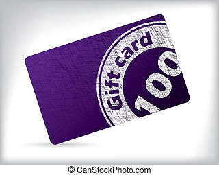 grunge, cartão, presente, desenho, selo