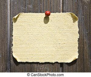 grunge, carta, su, legno, fondo