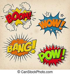 Grunge Cartoon Sound Effects Set1