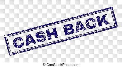 Grunge CASH BACK Rectangle Stamp
