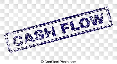 Grunge CASH FLOW Rectangle Stamp