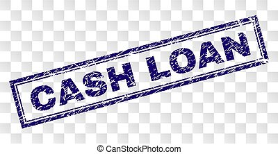 Grunge CASH LOAN Rectangle Stamp
