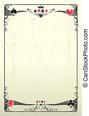 grunge casino - A grunge card frame  for a poster.