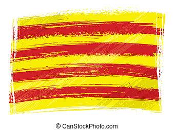 grunge, catalonia, fahne