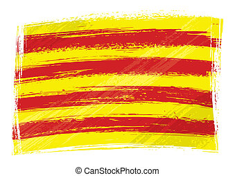 grunge, cataluña, bandera