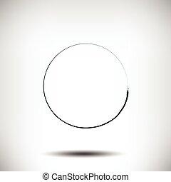 grunge, cerchio, pinstripe, sfondo nero