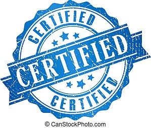 grunge, certificado, ícone