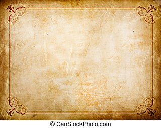 Grunge certificate background with creases and stains