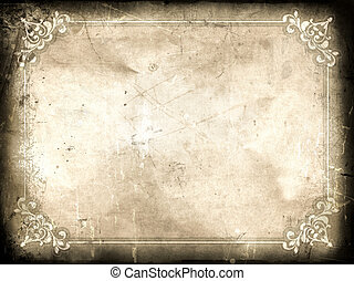 Grunge certificate background with splats, stains and...