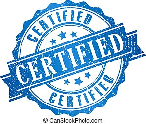 grunge, certificato, icona