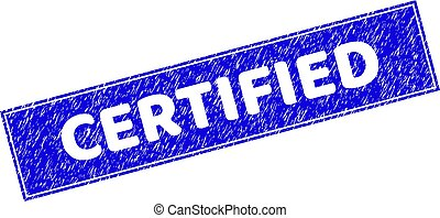 Grunge CERTIFIED Textured Rectangle Stamp Seal