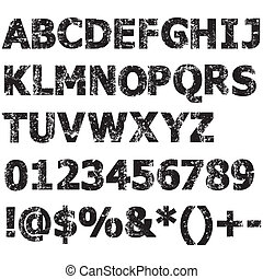 Grunge characters - Grunge full alphabet, numbers and others...