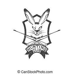grunge, chasse, club, lièvre, carbines, crête