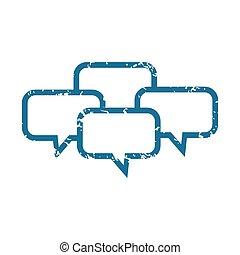 Grunge chat icon