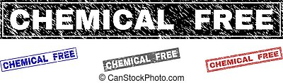 Grunge CHEMICAL FREE Textured Rectangle Watermarks