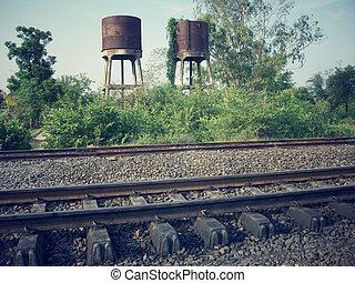 grunge, chemin fer