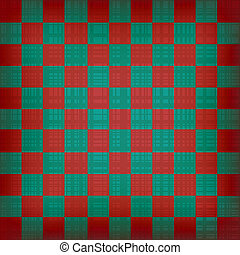 Grunge chessboard vector background.
