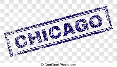 Grunge CHICAGO Rectangle Stamp