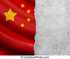 Grunge China flag