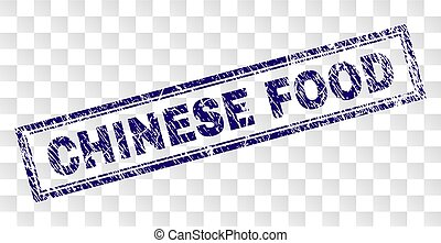 Grunge CHINESE FOOD Rectangle Stamp