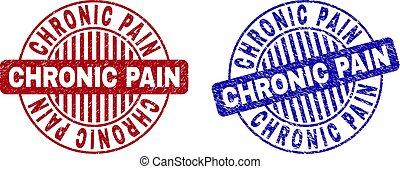 Grunge CHRONIC PAIN Scratched Round Stamp Seals - Grunge...