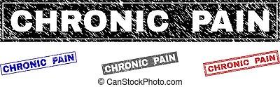 Grunge CHRONIC PAIN Textured Rectangle Watermarks - Grunge...