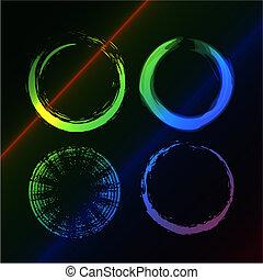 Grunge circle