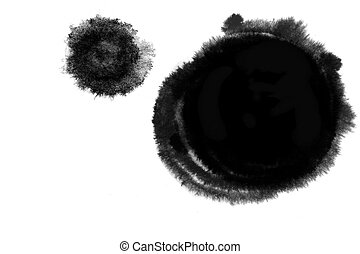 Grunge circle inkblot - illustration drawing of circle...
