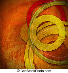 Grunge Circles Background - Warm Colors