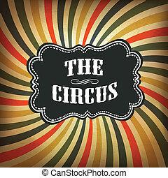 grunge, circo, experiência., vetorial, eps10