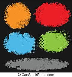 Grunge Circular Frame Backgrounds
