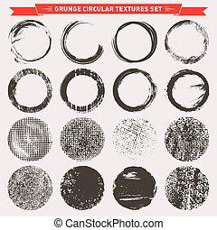 Grunge circular texture backgrounds