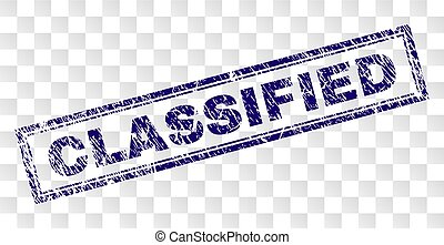 Grunge CLASSIFIED Rectangle Stamp