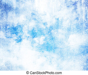 Grunge cloud on old paper crumpled background