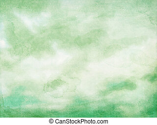 Grunge clouds on paper