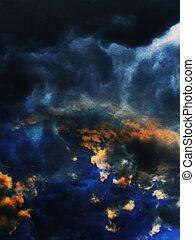 Grunge Cloudy Background
