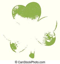 Grunge Clover Leaf