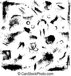 grunge, cobrança, para, seu, desenho