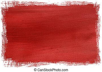 grunge, cocosnoot, papier, contoured, rood