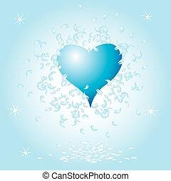 grunge, coeur, fond, valentin