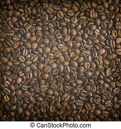 Grunge coffee background