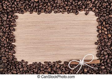 Grunge coffee frame