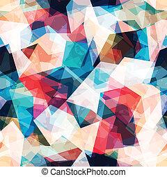 grunge, coloré, modèle, effet, seamless, mosaïque