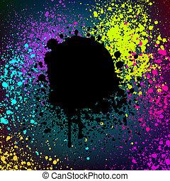 grunge, coloré, résumé, eps, arrière-plan., 8