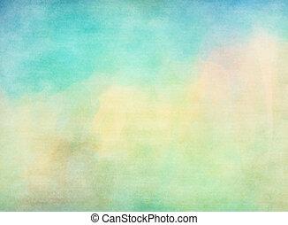 grunge, coloré, watercolor., texture, arrière-plan., doux