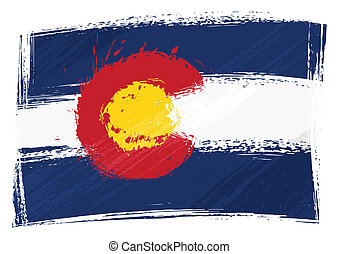 Grunge Colorado flag - State of Alaska flag created in...