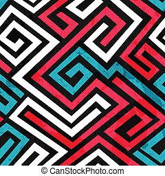 grunge, colorato, effetto, struttura, seamless, labirinto